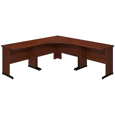 Bush® Business Westfield Elite 48W x 48D C Leg Corner Desk with (2) 36W x 24D Desks, Hansen Cherry