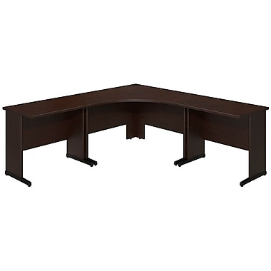 Bush® Business Westfield Elite 48W x 48D C Leg Corner Desk with (2) 36W x 24D Desks, Mocha Cherry