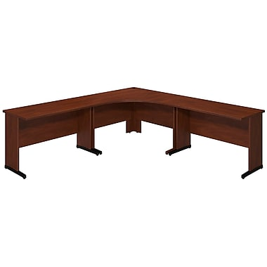 Bush® Business Westfield Elite 48W x 48D C Leg Corner Desk with (2) 48W x 24D Desks, Hansen Cherry