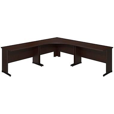 Bush® Business Westfield Elite 48W x 48D C Leg Corner Desk with (2) 48W x 24D Desks, Mocha Cherry