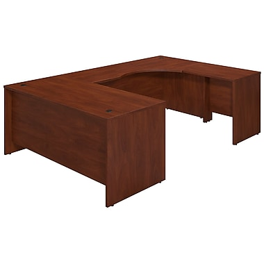 Bush® Business Westfield Elite 66W x 30D Right Hand U-Station Desk Shell, Hansen Cherry