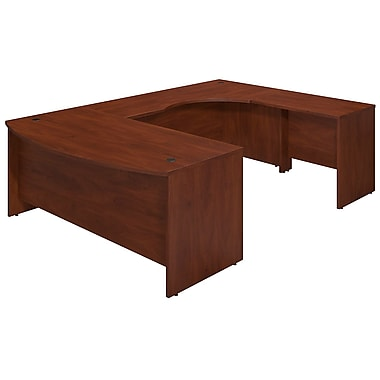 Bush® Business Westfield Elite 72W x 36D Right Hand Bowfront U Station Desk Shell, Hansen Cherry