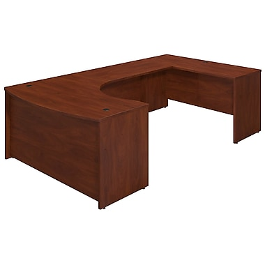 Bush Business Westfield Elite 60W x 43D Right Hand Bowfront U Station Desk Shell, Hansen Cherry