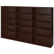 Bush® Business Westfield Elite 66H Bookcase Storage Wall, Mocha Cherry