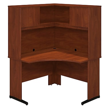 Bush® Business Westfield Elite 48W x 48D C-Leg Corner Desk with Hutch, Hansen Cherry