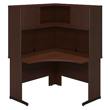 Bush® Business Westfield Elite 48W x 48D C-Leg Corner Desk with Hutch, Mocha Cherry