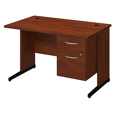 Bush® Business Westfield Elite 48W x 30D C-Leg Desk with 3/4 Pedestal, Hansen Cherry