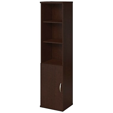 Bush® Business Westfield Elite 18W 5 Shelf Bookcase with Doors, Mocha Cherry