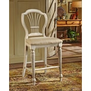 Hillsdale Wilshire 23.25'' Bar Stool w/ Cushion (Set of 2)