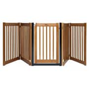 Dynamic Accents Amish Handcrafted 32'' Walk-Through 5 Panel Free Standing Gate; Artisan Bronze