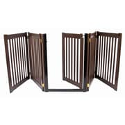 Dynamic Accents Amish Handcrafted 32'' Walk-Through 5 Panel Free Standing Gate; Mahogany