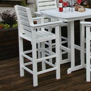 POLYWOOD  Captain 30'' Bar Stool; White