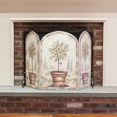 Stupell Industries Orange and Lemon Trees 3 Panel Fireplace Screen