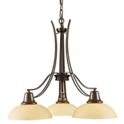 Landmark Lighting Franklin Creek 3-Light Shaded Chandelier