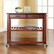 Crosley Kitchen Island w/ Granite Top; Cherry