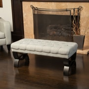 Home Loft Concepts Vancouver Upholstered Bench; Mixed Brown