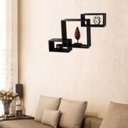 AdecoTrading Rectangular Square Interlocking Floating Wall Shelf
