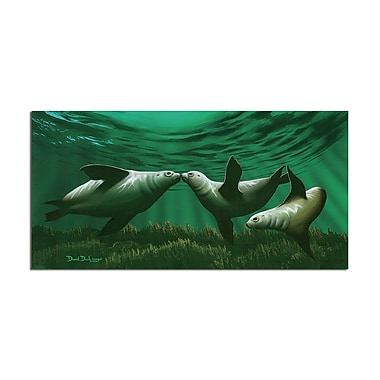 Ready2hangart 'Kissing Seals' by David Dunleavy Graphic Art on Canvas