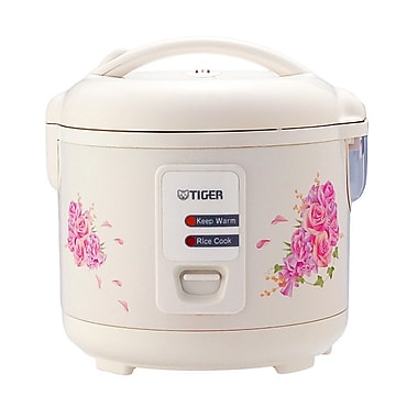 Tiger 5.5-Cup Electric Rice Cooker, White
