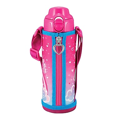 Tiger 0.50L Stainless Steel Thermal Ware with Carrying Case, Pink