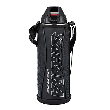 Tiger 1.5L Stainless Steel Thermal Bottle with Carrying Case, Black