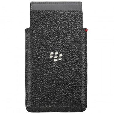 BlackBerry - Étui Leap pour téléphone, cuir, noir