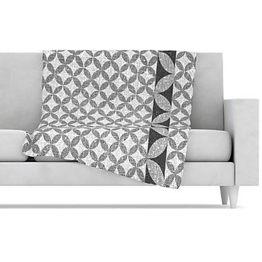 KESS InHouse Diamond Fleece Throw Blanket; 80'' L x 60'' W