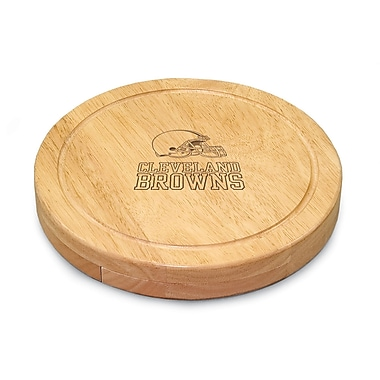 Picnic Time NFL Circo Engraved Cheese Board; Cleveland Browns