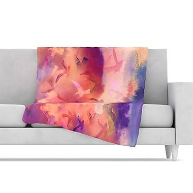 KESS InHouse Souffle Sky Fleece Throw Blanket; 80'' L x 60'' W