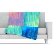 KESS InHouse Crayon Batik Throw Blanket; 80'' L x 60'' W