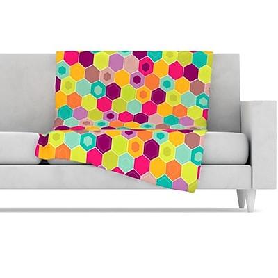 KESS InHouse Arabian Bee Fleece Throw Blanket; 60'' L x 50'' W