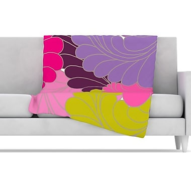 KESS InHouse Moroccan Leaves Fleece Throw Blanket; 80'' L x 60'' W