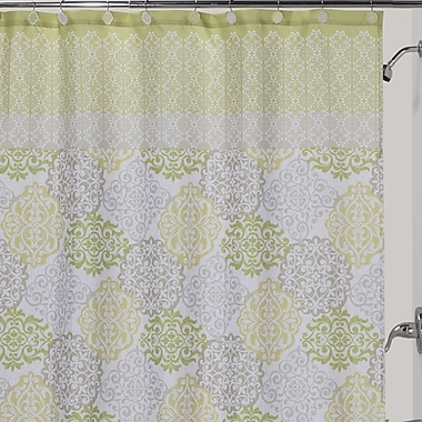 Creative Bath Gypsy Polyester Shower Curtain; Green