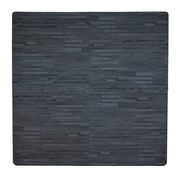 Tadpoles 4 Piece Wood Grain Playmat; Black
