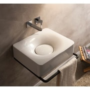 Scarabeo by Nameeks Fuji 20 inch Wall Mounted Bathroom Sink; No Hole by