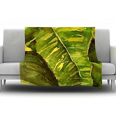 KESS InHouse Tropical Garden by Rosie Brown Fleece Throw Blanket; 60'' H x 50'' W x 1'' D