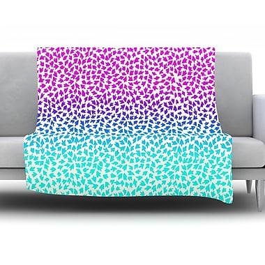 KESS InHouse Ombre Arrows by Sreetama Ray Fleece Throw Blanket; 80'' H x 60'' W x 1'' D