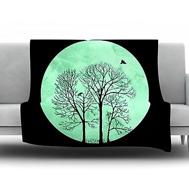 KESS InHouse Perch by Micah Sager Fleece Throw Blanket; 60'' H x 50'' W x 1'' D