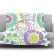 KESS InHouse Splatter by Chickaprint Fleece Throw Blanket; 60'' H x 50'' W x 1'' D