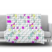KESS InHouse Squares by Michelle Drew Fleece Throw Blanket; 80'' H x 60'' W x 1'' D
