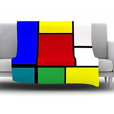 KESS InHouse Mondrian & Me by Oriana Cordero Fleece Throw Blanket; 40'' H x 30'' W x 1'' D
