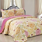 BOON Throw & Blanket Double Flannel 3 Piece Leaves Blanket Set