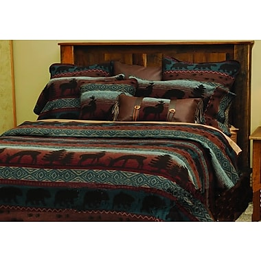 Wooded River Deer Coverlet; Twin