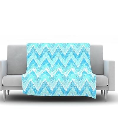 KESS InHouse Mint Snow Chevron by Marianna Tankelevich Fleece Throw Blanket; 40'' H x 30'' W x 1'' D