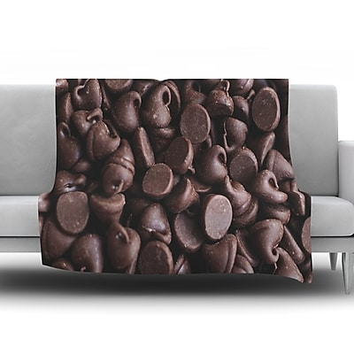 KESS InHouse Yay! Chocolate by Libertad Leal Fleece Throw Blanket; 40'' H x 30'' W x 1'' D