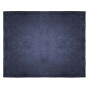 Terry Town Micro Mink Sherpa Throw; Navy