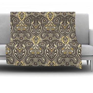 KESS InHouse Vintage Damask by Suzie Tremel Fleece Throw Blanket; 80'' H x 60'' W x 1'' D