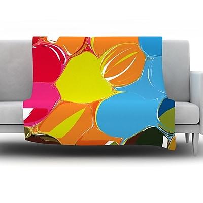 KESS InHouse Bubbles by Matthias Hennig Fleece Throw Blanket; 80'' H x 60'' W x 1'' D