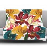KESS InHouse Flower Power by Lydia Martin Fleece Throw Blanket; 40'' H x 30'' W x 1'' D