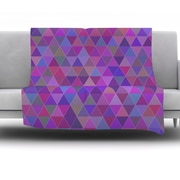 KESS InHouse Abstract by Louise Fleece Throw Blanket; 80'' H x 60'' W x 1'' D